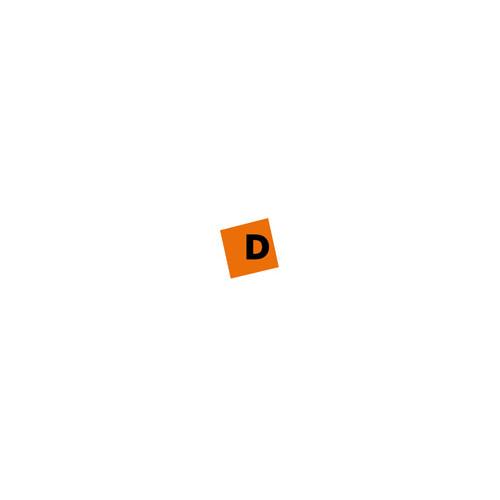 Carpeta de fundas Dequa PP semi rígido translúcido Fundas soldadas al lomo 20 fundas A4  Naranja